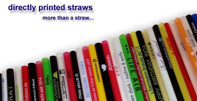 direct printed customized drinking straws