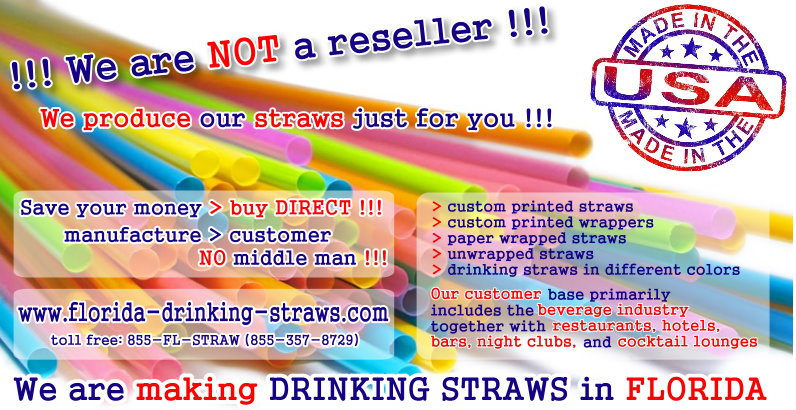 Drinking straw production - MADE IN THE USA